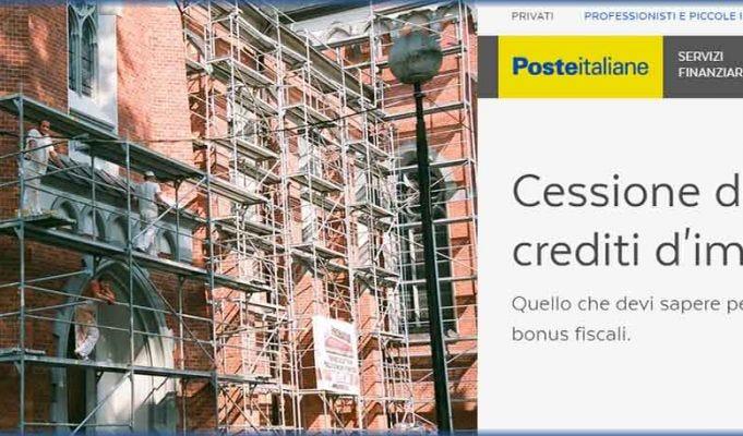 Sisma ed Ecobonus 110%, dal 19 si potrà cedere il credito anche a Poste Italiane con rimborsi fino al 103%