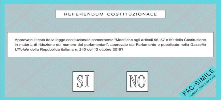 Referendum taglio parlamentari, le ragioni del SI e del NO