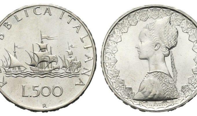 500 lire con caravelle in argento: la moneta che può valere fino a 12mila euro