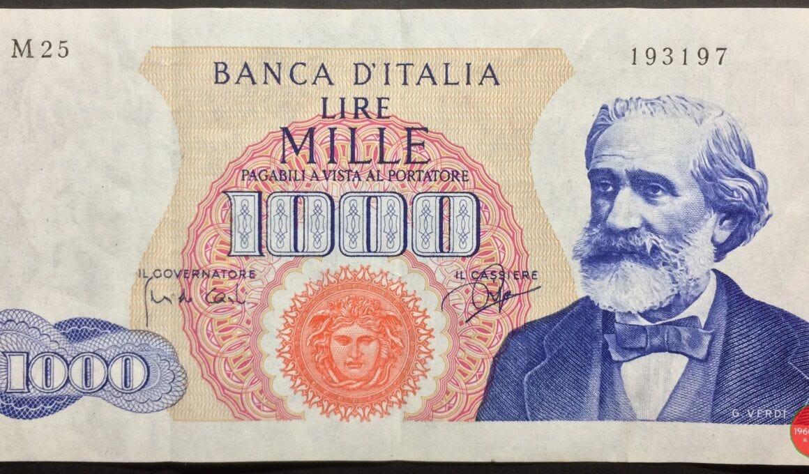 1000 lire verdi